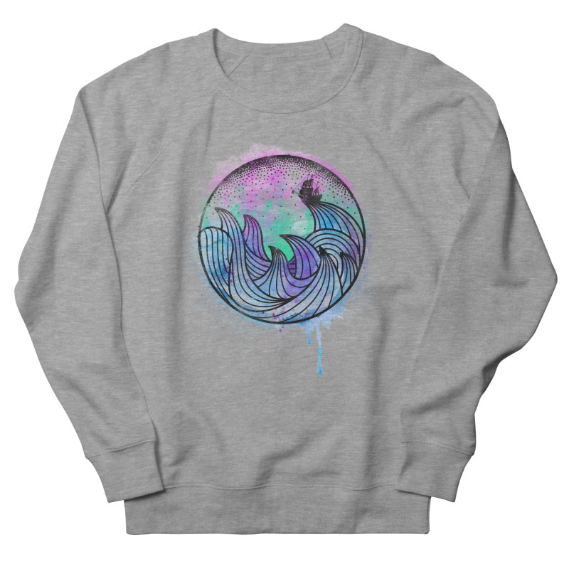 Watercolor Lost At Sea Men's French Terry Sweatshirt by MackStudios's Artist Shop