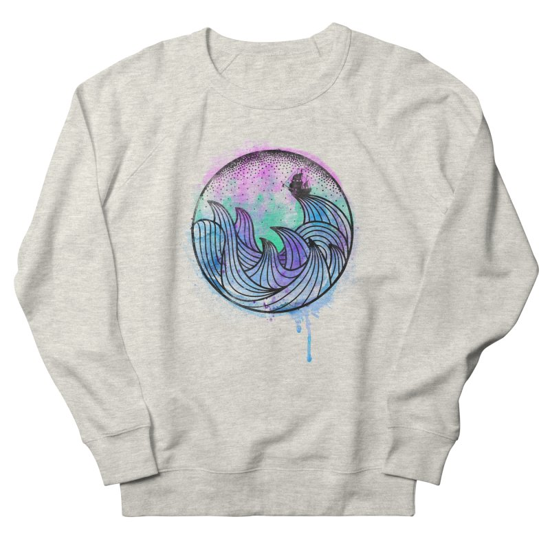 Watercolor Lost At Sea Men's Sweatshirt by MackStudios's Artist Shop