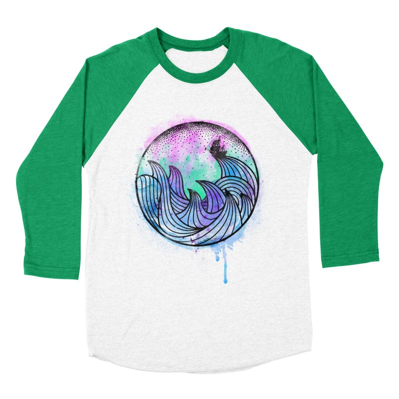 Watercolor Lost At Sea Women's Baseball Triblend T-Shirt by MackStudios's Artist Shop