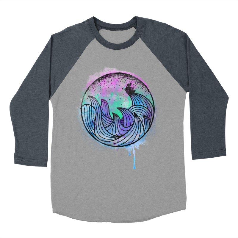 Watercolor Lost At Sea Women's Baseball Triblend T-Shirt by MackStudios's Artist Shop