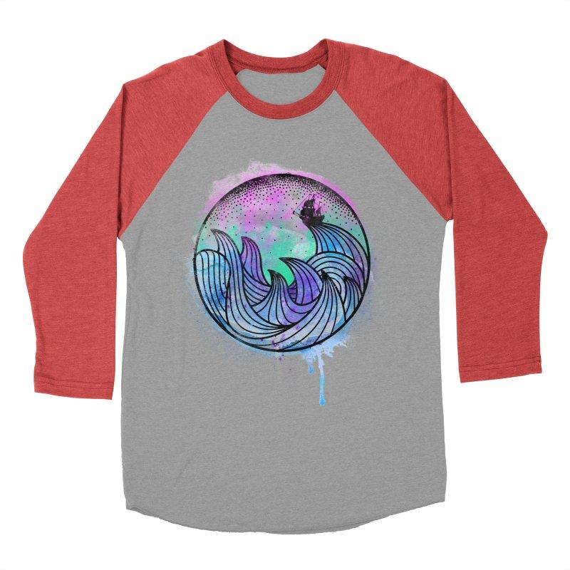 Watercolor Lost At Sea Men's Baseball Triblend T-Shirt by MackStudios's Artist Shop