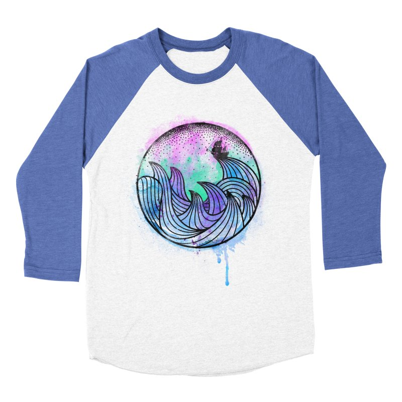 Watercolor Lost At Sea Men's Baseball Triblend Longsleeve T-Shirt by MackStudios's Artist Shop