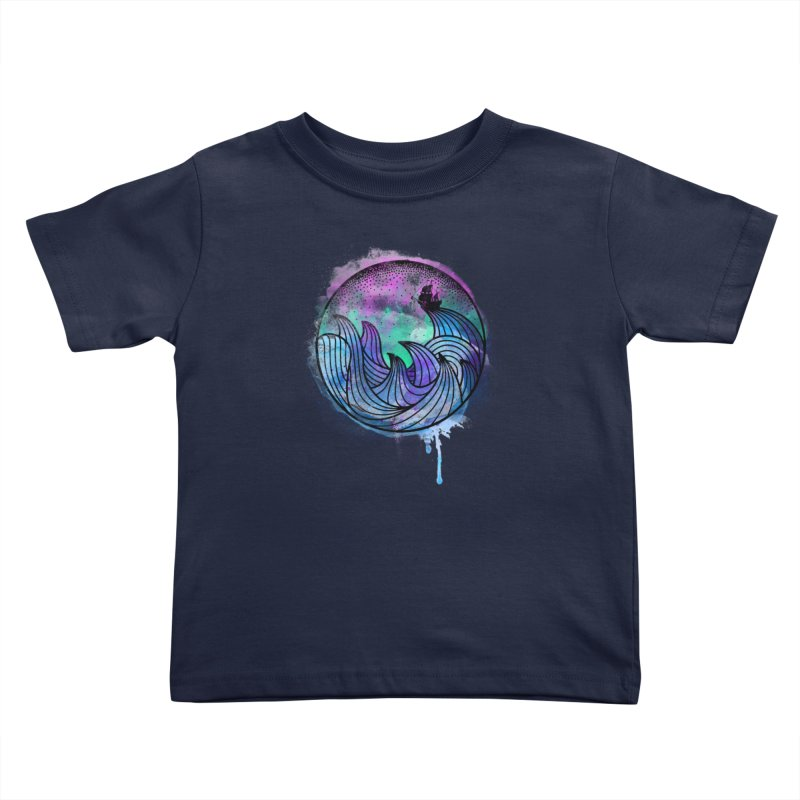 Watercolor Lost At Sea Kids Toddler T-Shirt by MackStudios's Artist Shop