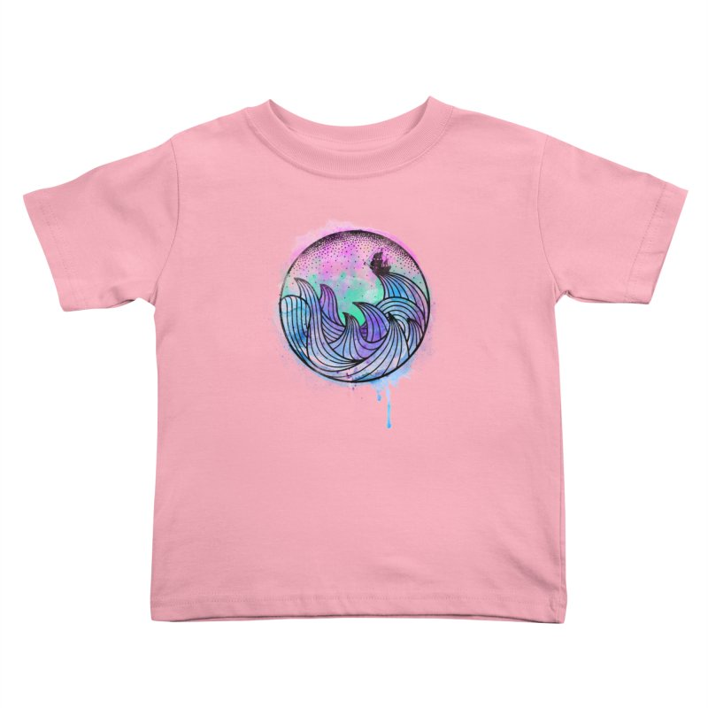 Watercolor Lost At Sea Kids Toddler T-Shirt by MackStudios's Artist Shop