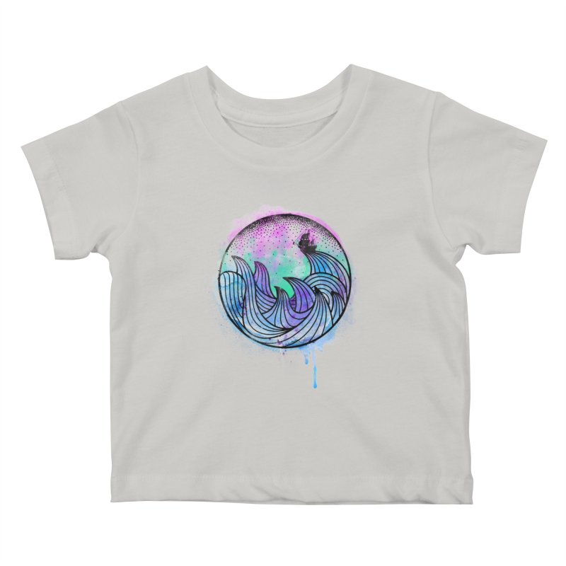 Watercolor Lost At Sea Kids Baby T-Shirt by MackStudios's Artist Shop
