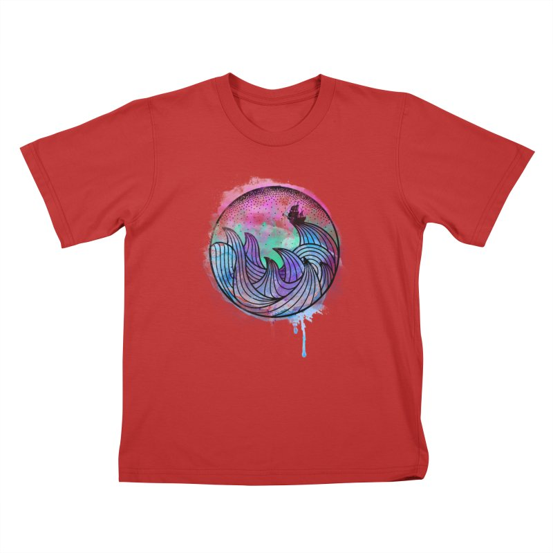 Watercolor Lost At Sea Kids T-Shirt by MackStudios's Artist Shop