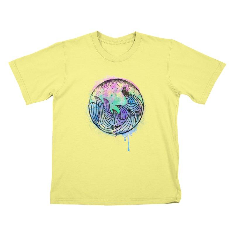 Watercolor Lost At Sea Kids T-shirt by MackStudios's Artist Shop