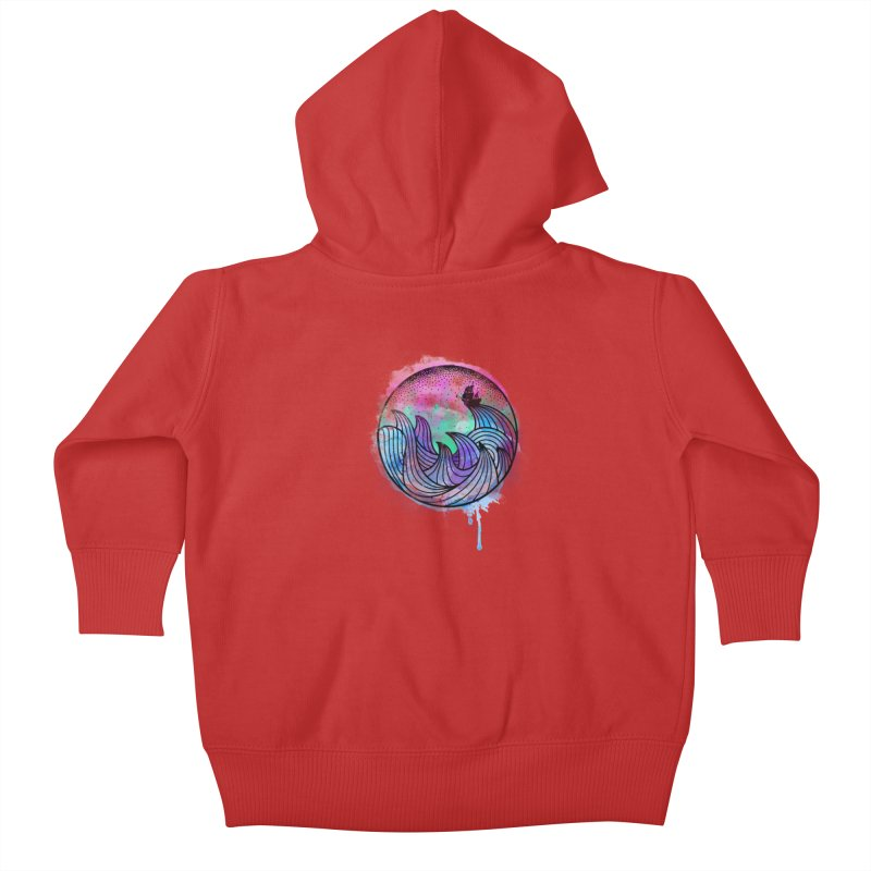 Watercolor Lost At Sea Kids Baby Zip-Up Hoody by MackStudios's Artist Shop