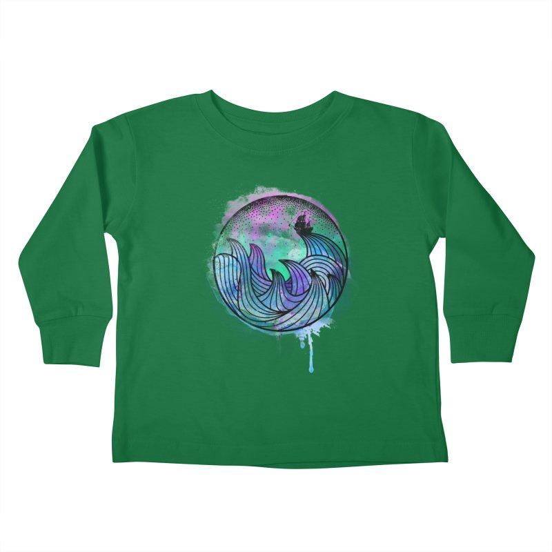 Watercolor Lost At Sea Kids Toddler Longsleeve T-Shirt by MackStudios's Artist Shop
