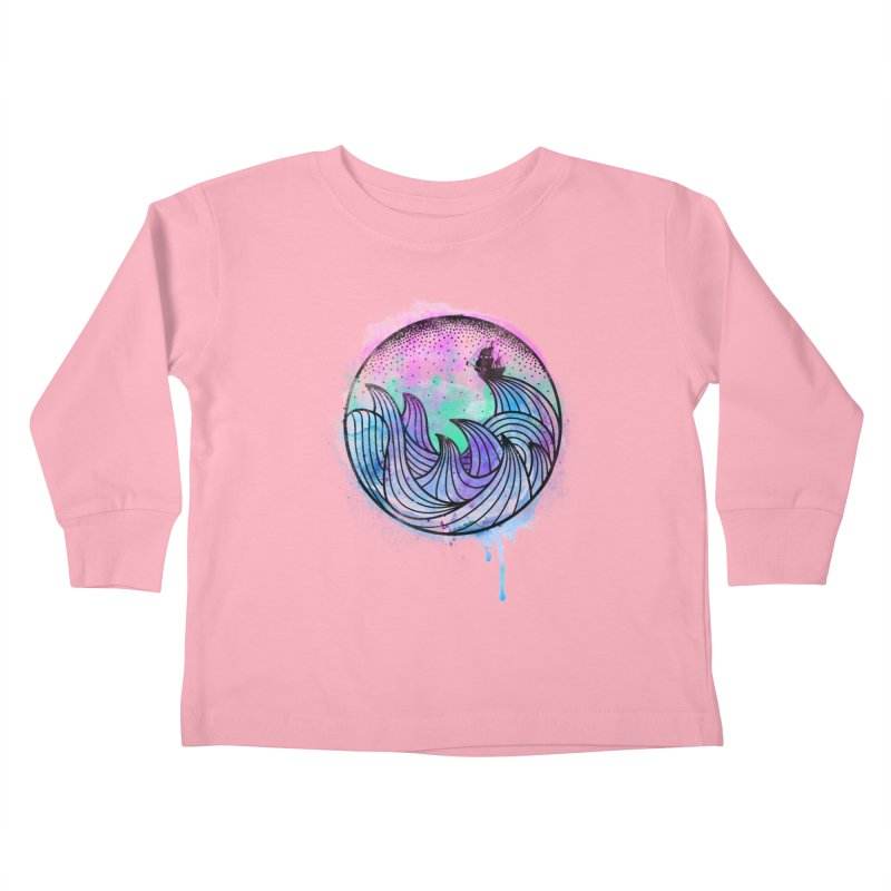 Watercolor Lost At Sea Kids Toddler Longsleeve T-Shirt by MackStudios's Artist Shop