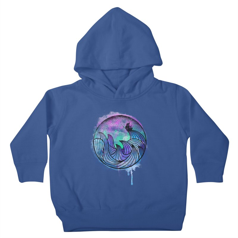Watercolor Lost At Sea Kids Toddler Pullover Hoody by MackStudios's Artist Shop