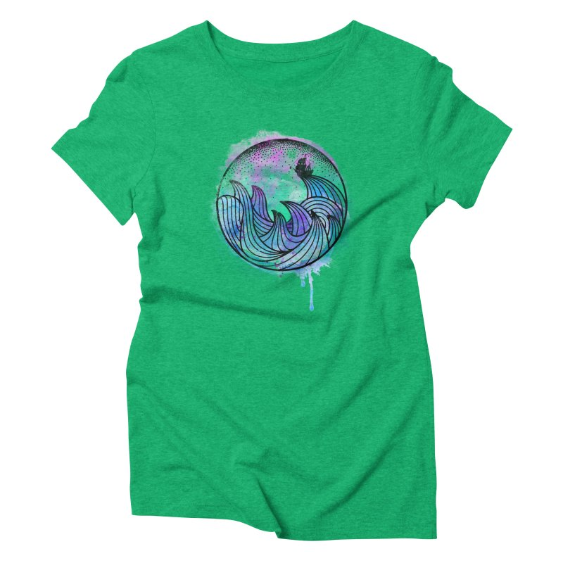Watercolor Lost At Sea Women's Triblend T-Shirt by MackStudios's Artist Shop