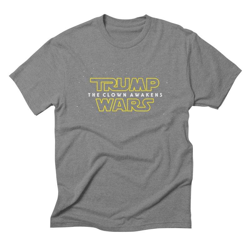 Trump Wars The Clown Awakens Men's Triblend T-Shirt by MackStudios's Artist Shop