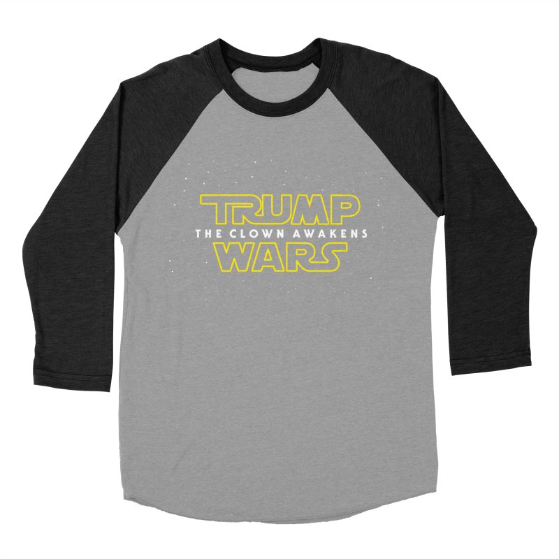 Trump Wars The Clown Awakens Women's Baseball Triblend Longsleeve T-Shirt by MackStudios's Artist Shop