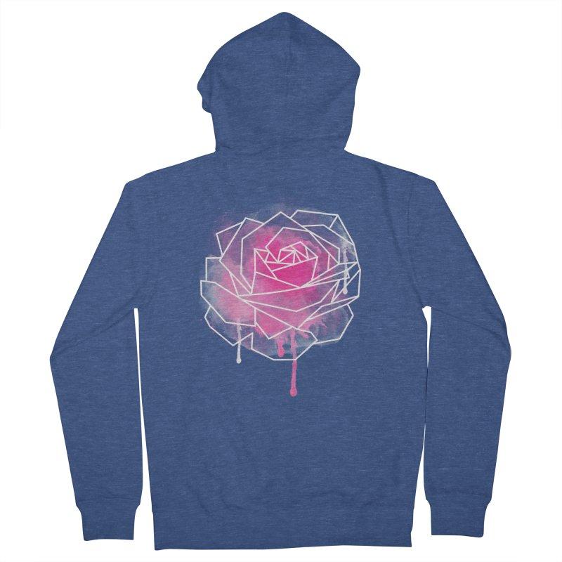 Watercolor Geo Rose Men's Zip-Up Hoody by MackStudios's Artist Shop