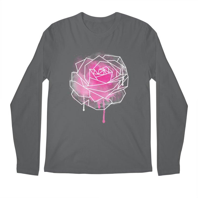 Watercolor Geo Rose Men's Longsleeve T-Shirt by MackStudios's Artist Shop