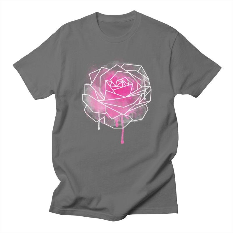 Watercolor Geo Rose Men's T-Shirt by MackStudios's Artist Shop
