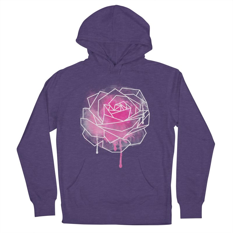 Watercolor Geo Rose Women's Pullover Hoody by MackStudios's Artist Shop