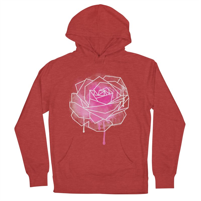 Watercolor Geo Rose Men's French Terry Pullover Hoody by MackStudios's Artist Shop