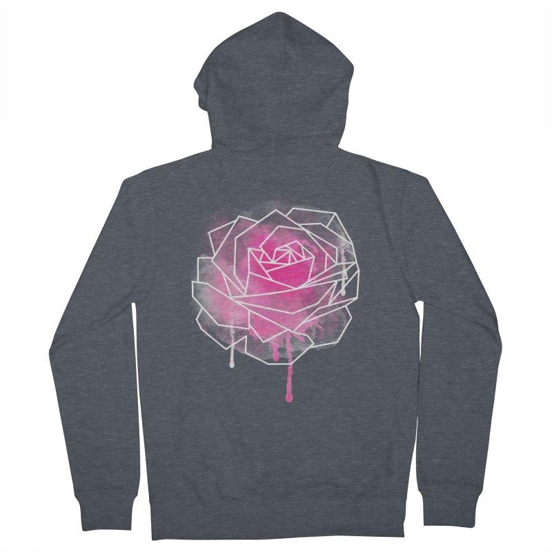 Watercolor Geo Rose Women's Zip-Up Hoody by MackStudios's Artist Shop