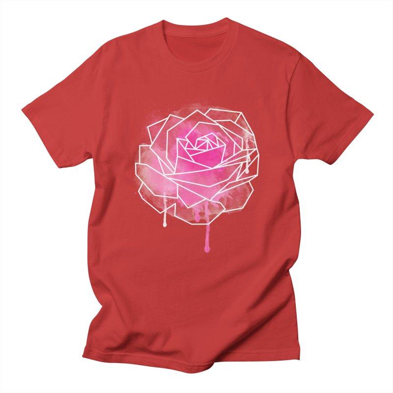 Watercolor Geo Rose Men's Regular T-Shirt by MackStudios's Artist Shop