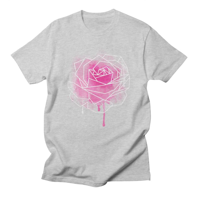 Watercolor Geo Rose Men's Regular T-Shirt by MackStudios's Artist Shop