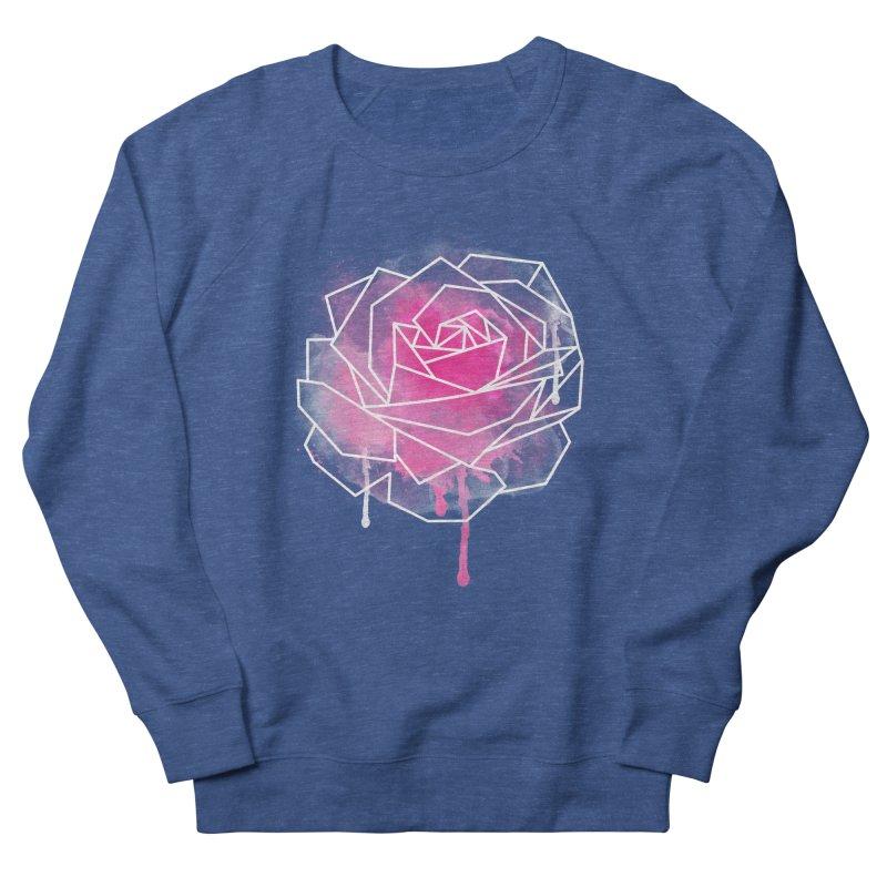 Watercolor Geo Rose Women's French Terry Sweatshirt by MackStudios's Artist Shop