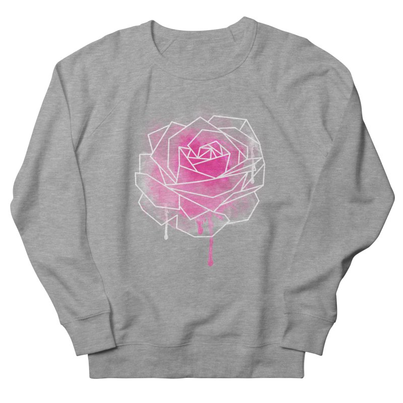 Watercolor Geo Rose Women's French Terry Sweatshirt by MackStudios's Artist Shop