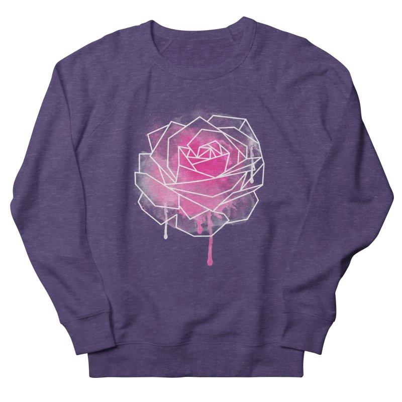 Watercolor Geo Rose Men's Sweatshirt by MackStudios's Artist Shop