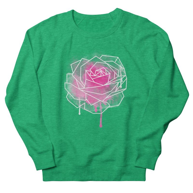 Watercolor Geo Rose Men's French Terry Sweatshirt by MackStudios's Artist Shop