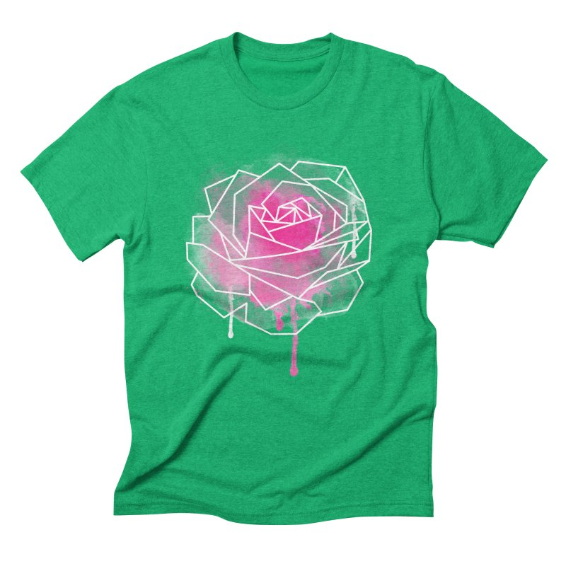 Watercolor Geo Rose Men's Triblend T-Shirt by MackStudios's Artist Shop