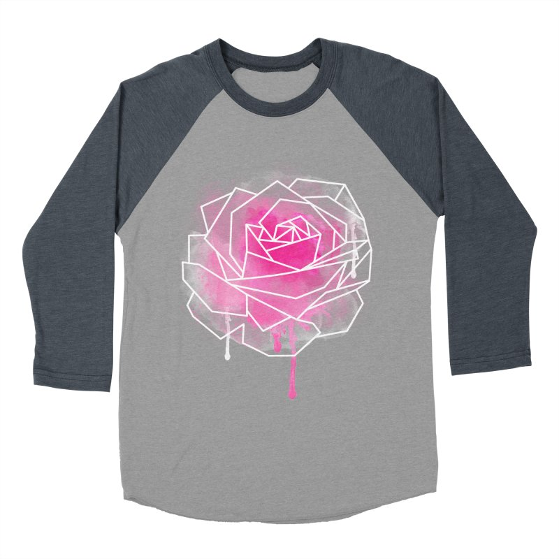 Watercolor Geo Rose Women's Baseball Triblend Longsleeve T-Shirt by MackStudios's Artist Shop
