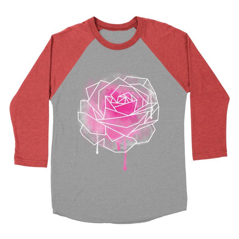 Watercolor Geo Rose Men's Baseball Triblend T-Shirt by MackStudios's Artist Shop