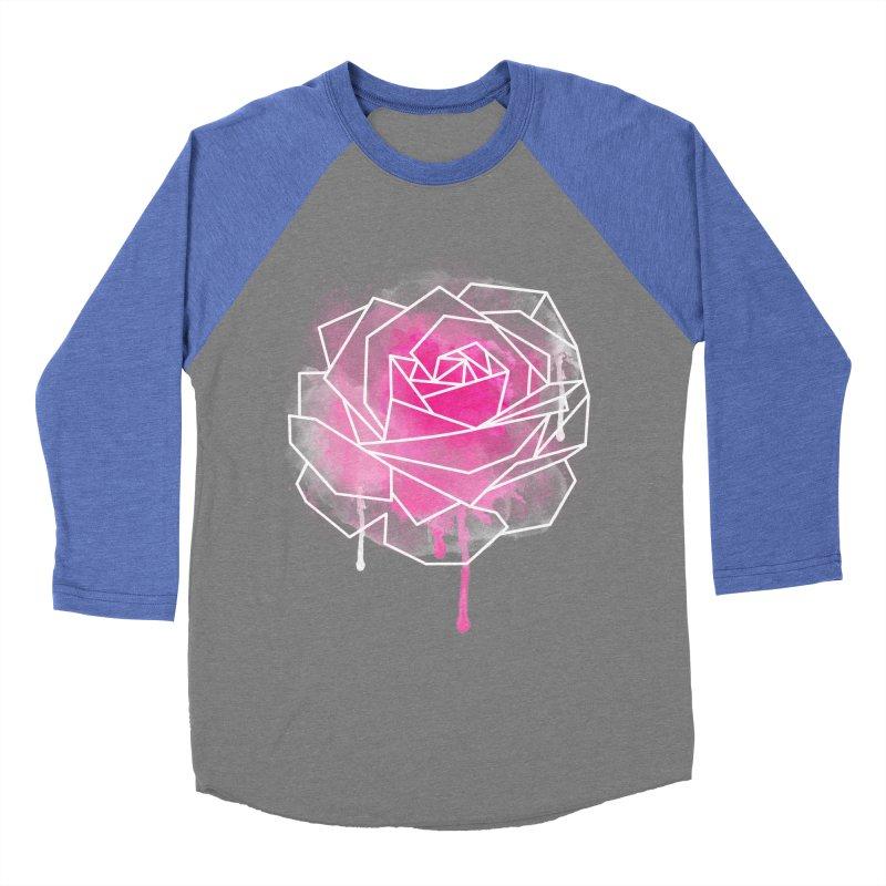 Watercolor Geo Rose Men's Baseball Triblend Longsleeve T-Shirt by MackStudios's Artist Shop