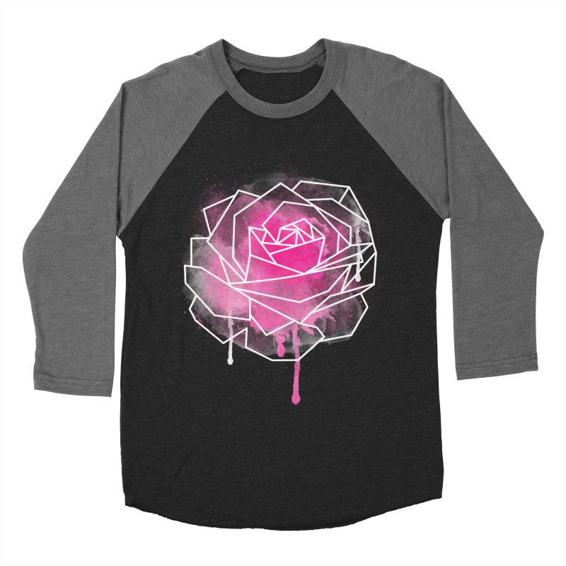 Watercolor Geo Rose Men's Baseball Triblend Longsleeve T-Shirt by MackStudios's Artist Shop