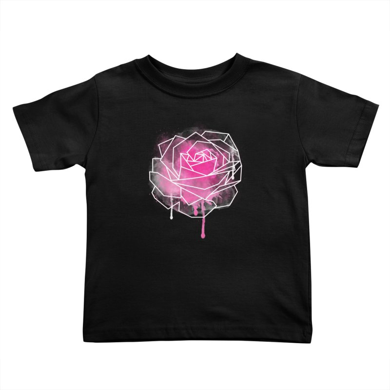 Watercolor Geo Rose Kids Toddler T-Shirt by MackStudios's Artist Shop