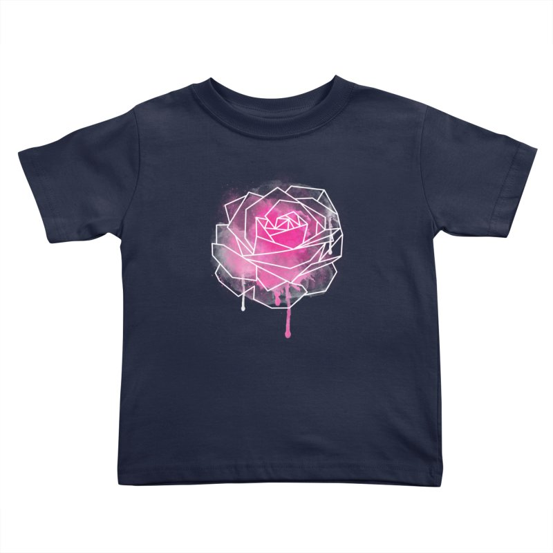Watercolor Geo Rose Kids Toddler T-Shirt by MackStudios's Artist Shop