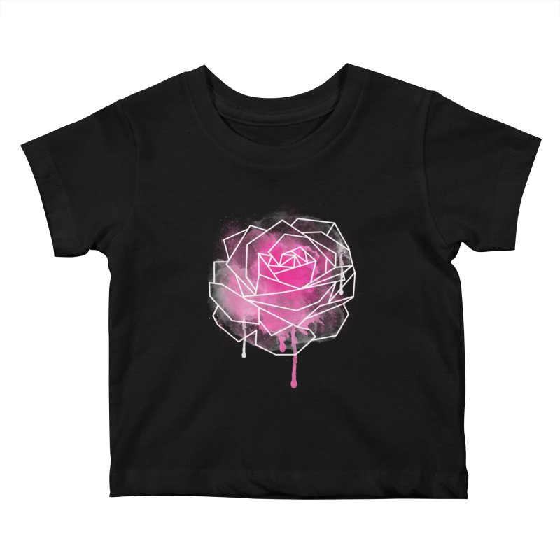 Watercolor Geo Rose Kids Baby T-Shirt by MackStudios's Artist Shop
