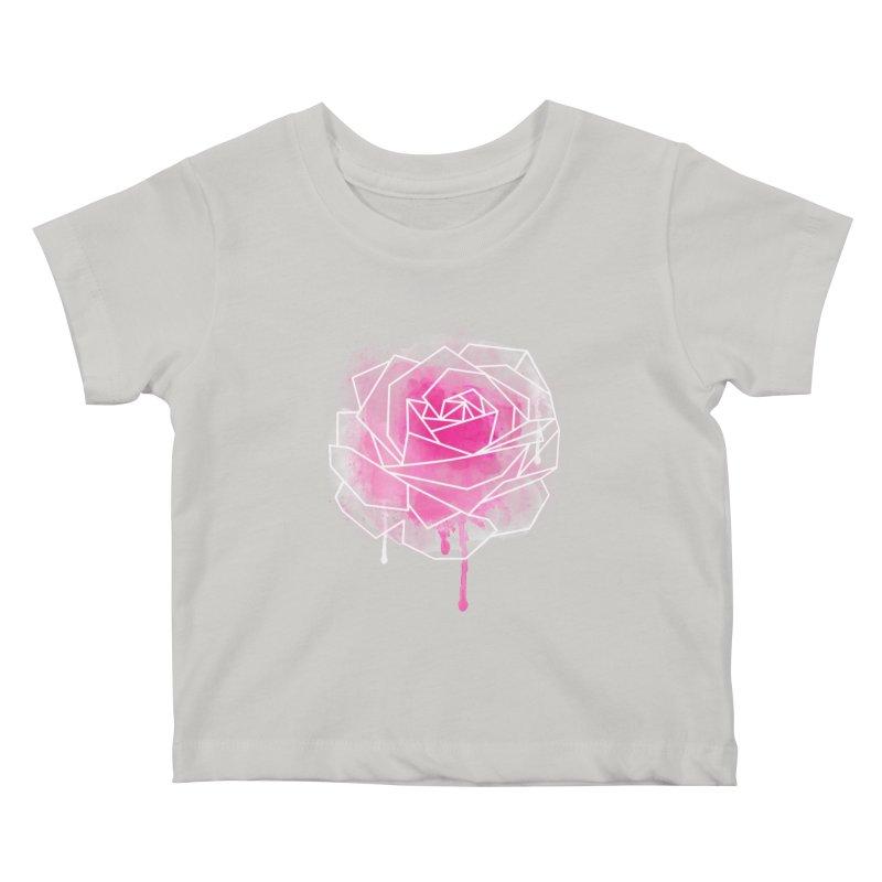 Watercolor Geo Rose Kids Baby T-Shirt by MackStudios's Artist Shop