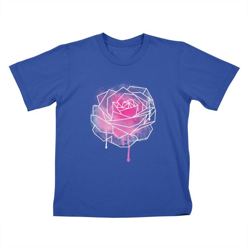 Watercolor Geo Rose Kids T-Shirt by MackStudios's Artist Shop