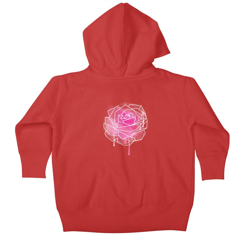 Watercolor Geo Rose Kids Baby Zip-Up Hoody by MackStudios's Artist Shop