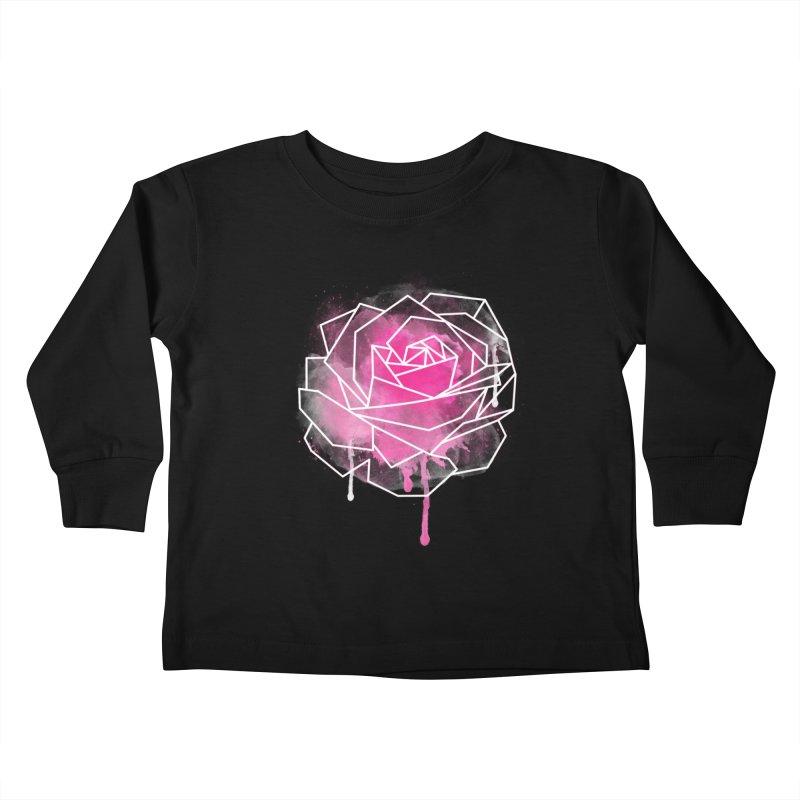 Watercolor Geo Rose Kids Toddler Longsleeve T-Shirt by MackStudios's Artist Shop