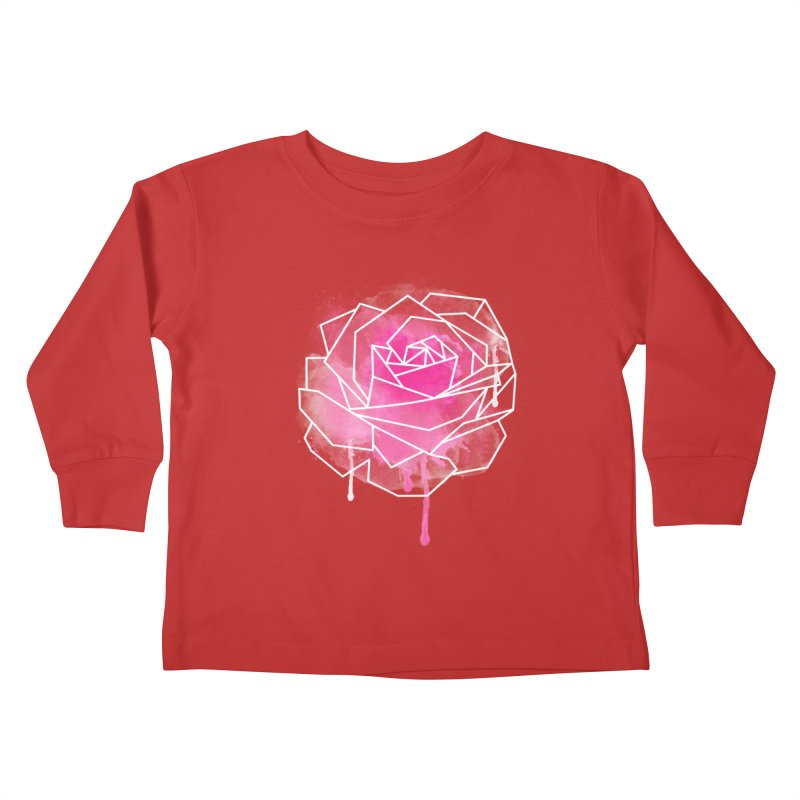 Watercolor Geo Rose Kids Toddler Longsleeve T-Shirt by MackStudios's Artist Shop