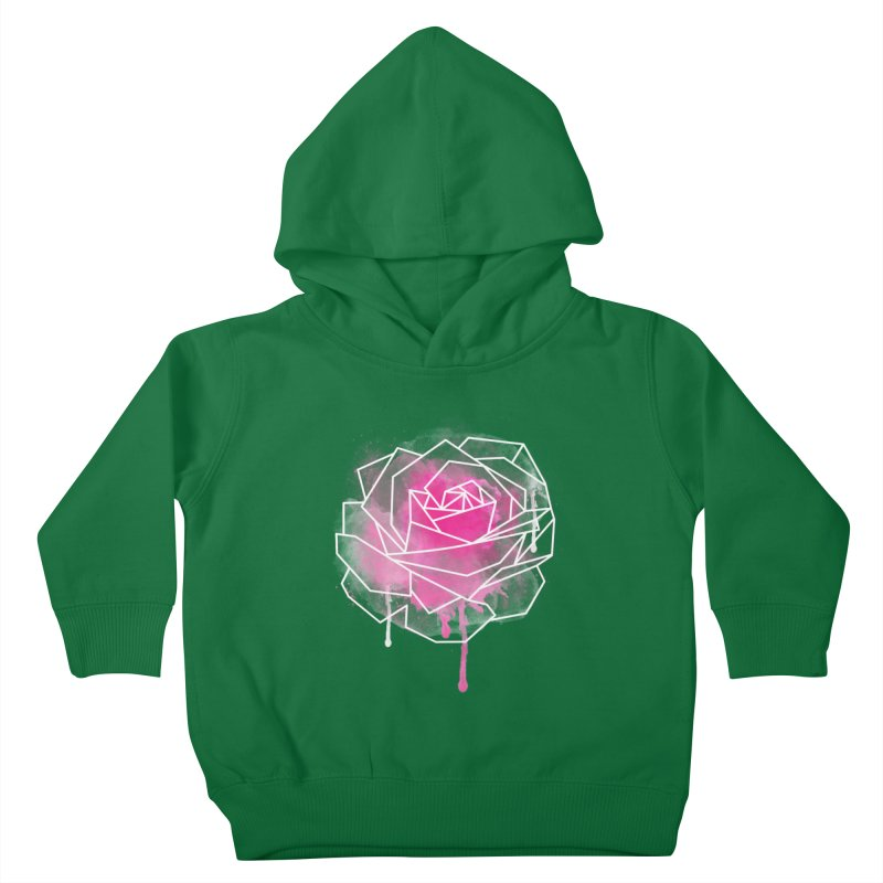 Watercolor Geo Rose Kids Toddler Pullover Hoody by MackStudios's Artist Shop