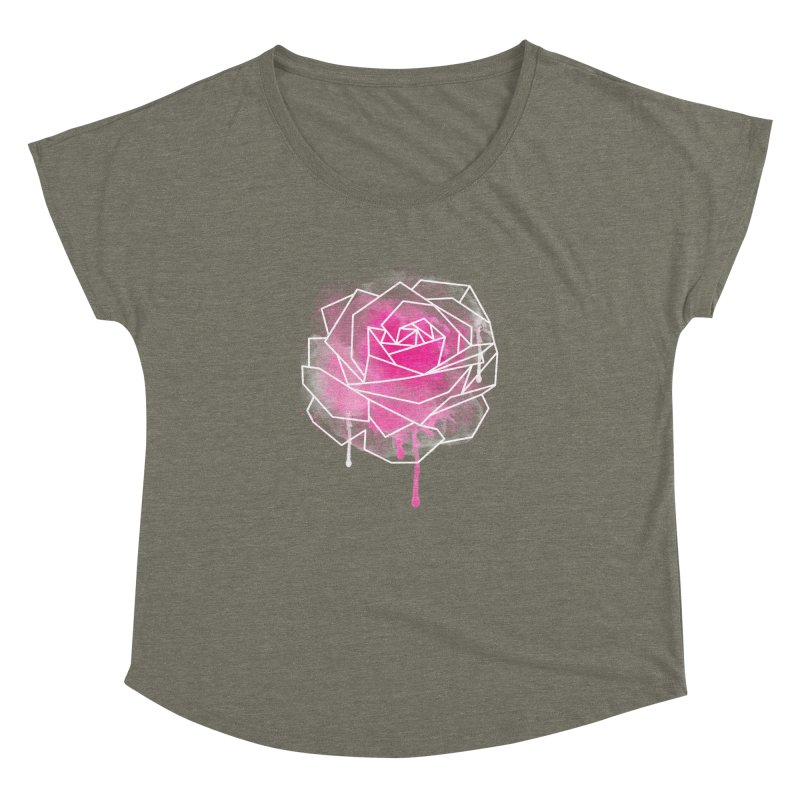 Watercolor Geo Rose Women's Dolman Scoop Neck by MackStudios's Artist Shop