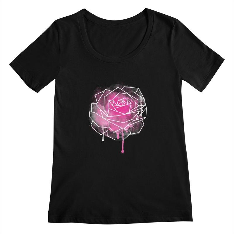 Watercolor Geo Rose Women's  by MackStudios's Artist Shop