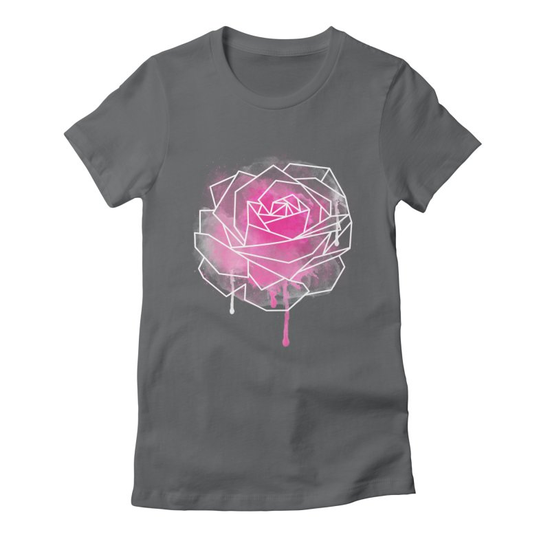 Watercolor Geo Rose Women's Fitted T-Shirt by MackStudios's Artist Shop