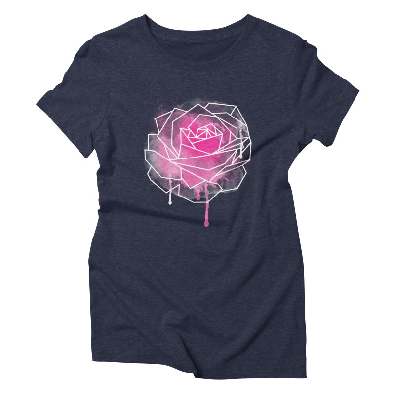 Watercolor Geo Rose Women's Triblend T-Shirt by MackStudios's Artist Shop