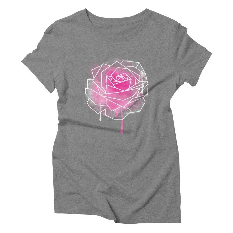 Watercolor Geo Rose Women's Triblend T-shirt by MackStudios's Artist Shop
