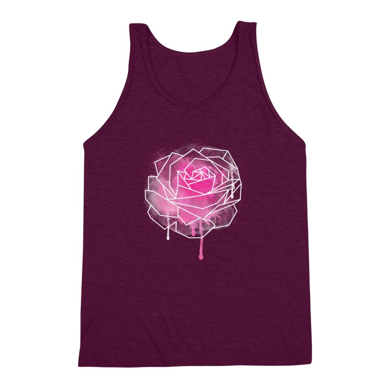 Watercolor Geo Rose Men's Triblend Tank by MackStudios's Artist Shop